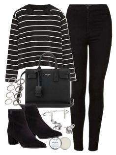 """""""Outfit for university with a black jumper"""" by ferned on Polyvore featuring Topshop, Herbivore, Chicnova Fashion, Yves Saint Laurent, Stuart Weitzman, ASOS, French Connection and Lonna & Lilly"""