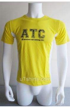 Mens Dri fit Round Neck Short Sleeve Yellow Color Tshirts with silkscreen logo  Fabric: 100% Polyester Dri fit fabric  Weight: 145gsm  Size: any size available include Asia size Europe size American size,normally XS-3XL  Logo: Emboridery (can be embroidered,applique,silkscreen printing,thermal printing,sublimation printing)  Printing: silk screen printing(water,Gel ink),hot-tranfer,discharge printing,digital 3D printing  Color: all…