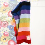 knitted stripe blanket - another nice combination of colors