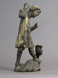 Saint George and the Dragon, ca. 1330; Austrian, Vienna; Wood, gesso, polychromy, gold | The Metropolitan Museum of Art