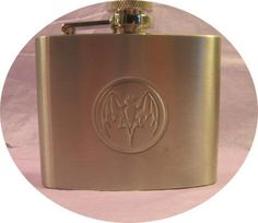 Bacardi 5oz Stainless Steel Flask New