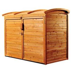 Leisure Season 5 ft. 2 in. x 2 ft. 10 in. x 4 ft. Cypress Horizontal Refuse Storage Shed-RSS2001 at The Home Depot