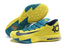 """http://www.yesnike.com/big-discount-66-off-nike-kevin-durant-kd-6-vi-seat-pleasant-yellow-teal-for-sale.html BIG DISCOUNT ! 66% OFF! NIKE KEVIN DURANT KD 6 VI """"SEAT PLEASANT"""" YELLOW/TEAL FOR SALE Only 89.12€ , Free Shipping!"""