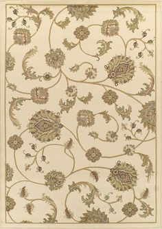 $5 Off when you share! Dalyn Bradford BR8023 Ivory Rug | Traditional Rugs #RugsUSA