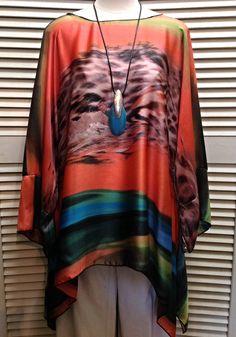 Lior - Silky multicolor tunic  - $119