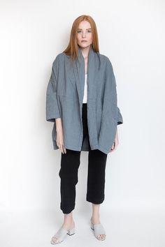 Atelier Delphine Haori Coat / Glacier Blue