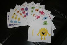 Monster Math Counting Cards