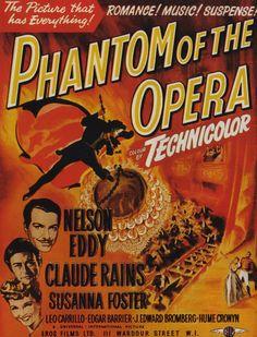 El Fantasma de la Ópera (Phantom of The Opera), de Arthur Lubin, 1943