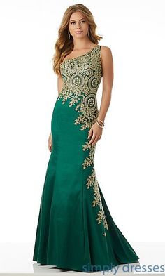 Long Embroidered One-Shoulder Sheer Prom Dress Homecoming Dresses, Formal Prom Dresses, Evening Wear: - Mob Dresses, Homecoming Dresses, Fashion Dresses, Prom Dress, Dress Long, Party Wear Long Gowns, Formal Gowns, Dress Formal, Formal Prom