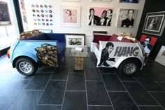 Mini car furniture by artists George Ioannou! The original 'Italian Job' Mini chairs - www.artrebellion.co.uk