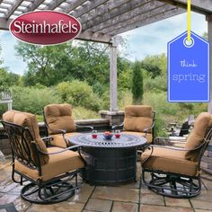 Come in and get your patio set for spring!