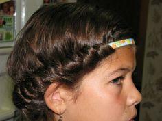 No heat Curls - Before
