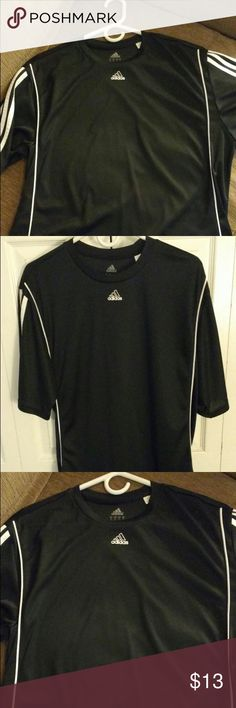 Adidas t shirt dry fit Men's Adidas T-shirt black dry fit only worn once or twice perfect condition Adidas Shirts Tees - Short Sleeve