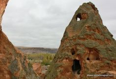 The biggest rock-cut monastery in Cappadocia called the Selime Monastery and Cathedral. #Turkey