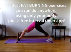 12 Best Fat Burning body excersices you can do anywhere
