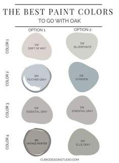best paint colors to go with oak - Kitchen Paint Colors Best Paint Colors, Wall Paint Colors, Paint Colors For Living Room, Paint Colors For Home, Office Paint Colors, Vintage Paint Colors, Indoor Paint Colors, Rustic Paint Colors, Modern Paint Colors