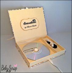 Beky Scrap: Caja - libro para entregar Cd y pendrive