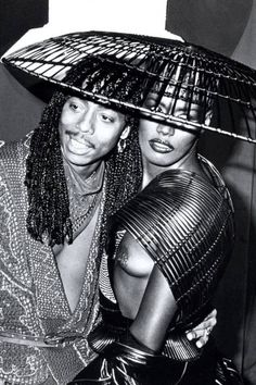The most outrageous outfits in Grammys history: Rick James and Grace Jones, 1983