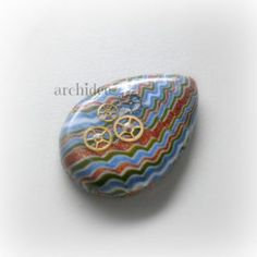 tutorial how to make polymer clay cabochons striped decor zig zag or plumed