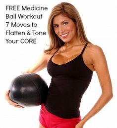 FREE Medicine Ball Workout @ www.jessicastatler.com - 7 Moves to Flatten and Tone Your Core