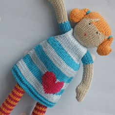 Hetti++Hand+Knitted+Doll+by+BooBiloo+on+Etsy
