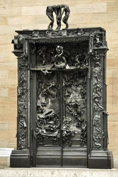 """The Gates of Hell (French: La Porte de l'Enfer) by French artist Auguste Rodin that depicts a scene from """"The Inferno"""", the first section of Dante Alighieri's Divine Comedy.I got to see this at the Rodin Museum last summer. Cool Doors, The Doors, Unique Doors, Windows And Doors, Auguste Rodin, Sculpture Art, Sculptures, Tor Design, Gates Of Hell"""