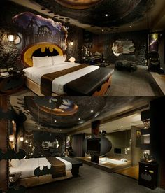 Batman bedroom - this would be awesome to have