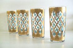 MidCentury Culver Glassware  Mad Men by 4EnvisioningVintage, $31.00