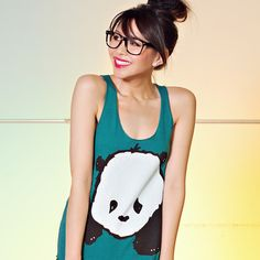 """Baby Panda"" Racerback Tank Top / Steppie Clothing"