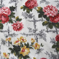 Chiddingdstone vintage barkcloth from Folly&Glee
