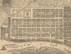 old savannah, ga map | Savannah, GA