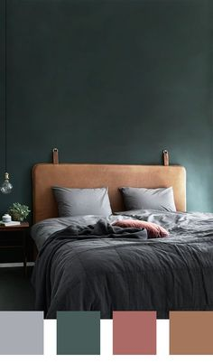 26 Rustic Bedroom Design and Decor Ideas for a Cozy and Comfy Space - The Trending House Bedroom Green, Green Rooms, Bedroom Colors, Home Bedroom, Modern Bedroom, Dark Bedrooms, Stylish Bedroom, Luxurious Bedrooms, My New Room