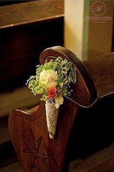#slubne #kwiaty #idyllic #wedding #flower #church #horn #manufakturaslubna #sluby #decoratons