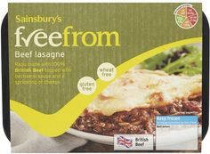 Sainsbury's freefrom Beef Lasagne (400g) Beef Lasagne, Bechamel Sauce, Sainsburys, Mashed Potatoes, Frozen, Gluten Free, Cheese, Health, Ethnic Recipes