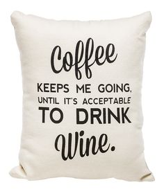 'Acceptable to Drink Wine' Pillow @scrapwedo