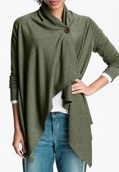 asymmetrical fleece wrap cardigan http://rstyle.me/n/vbyqnpdpe