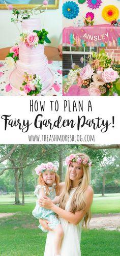 how to plan a fairy garden party