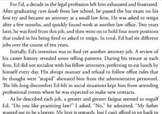 For Ed, a decade in the legal profession left him exhausted and frustrated. After graduating CUM LAUDE from law school, ...