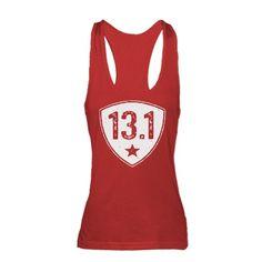 Thirteen Point One. Half Marathon. 13.1. Racerback Tank Top #red #running #motivation