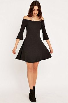 Somedays Lovin Sweet Spec Ribbed Carbon Dress - Urban Outfitters