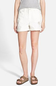 Madewell Destructed Boyfriend Denim Shorts available at #Nordstrom Was: $74.50 Now: $49.91 33% OFF Item #1055694