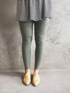 Moto Leggings in Olive | ROOLEE