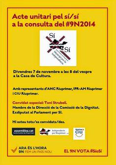 9N SANTA EULÀLIA DE RIUPRIMER: ACTE UNITARI PEL SI SI politicatotcat.blogspot.com #9NPoliticaTotcat #ActepublicPoliticaTotcat Santa Eulàlia de Riuprimer, Osona, Països CatalansActe unitari pel sí/sí 9N Riuprimer Acte final de la campanya del 9-N a  Política Totcat: 9N SANTA EULÀLIA DE RIUPRIMER: ACTE UNITARI PEL SI...