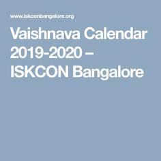 Vaishnava Calendar 2020 Beginning of Salagrama and Tulasi Jala Dana – Hare Krishna
