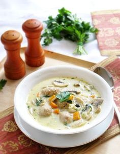 Soup Recipes, Cooking Recipes, Healthy Recipes, Polish Recipes, Cheeseburger Chowder, Catering, Food And Drink, Menu, Tasty