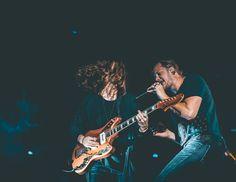 Daniel Wayne Sermon & Dan Reynolds of the band Imagine Dragons performing live at Life Is Beautiful Music & Art Festival in Las Vegas.