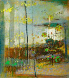 """Sanctuary of Light"", 2013 Oil on Canvas - Rick Stevens Rick Stevens, Virtual Art, Abstract Nature, Encaustic Art, Oil Painting Abstract, Watercolor Art, Fantastic Art, Texture Art, Art Plastique"