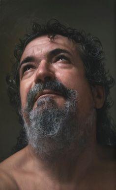 retrato hiperrealista de Javier Arizabalo