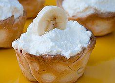 Mini Banana Mousse Pies