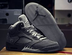 Jordan V Wolf Grey WAAA I LOVE THESE, -_- they came out two years ago........ I have to wait like 8 years | Raddest Men's Fashion Looks On The Internet: http://www.raddestlooks.org